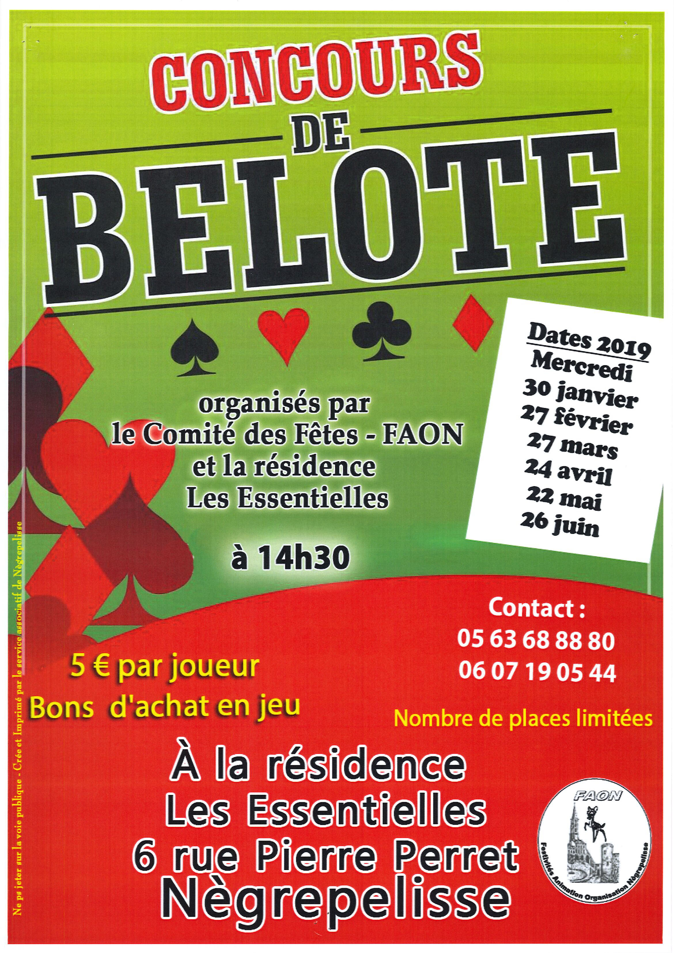 Concours belote FAON 24 AVRIL