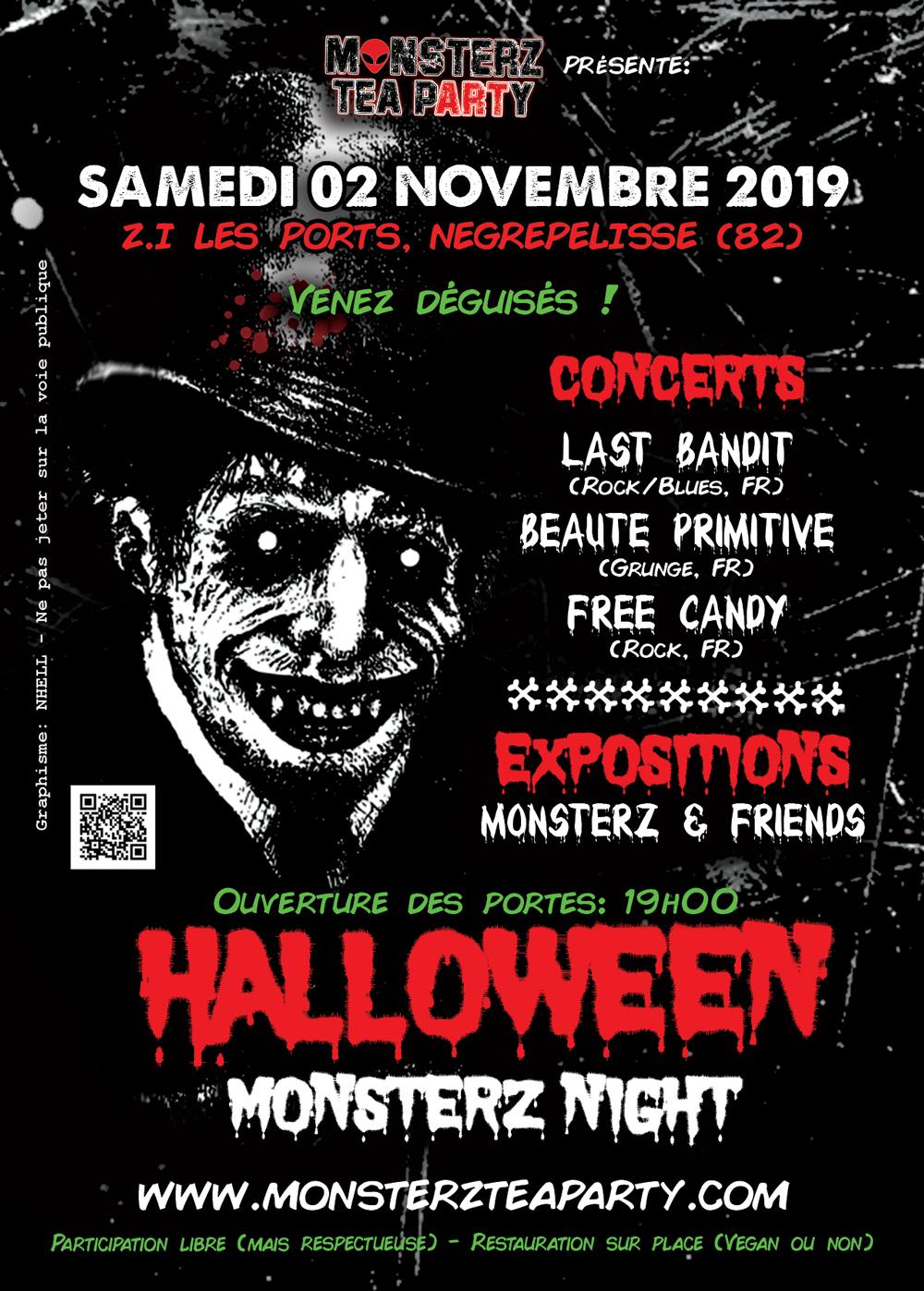 Soirée Halloween à la galerie des Monsterz Tea Party